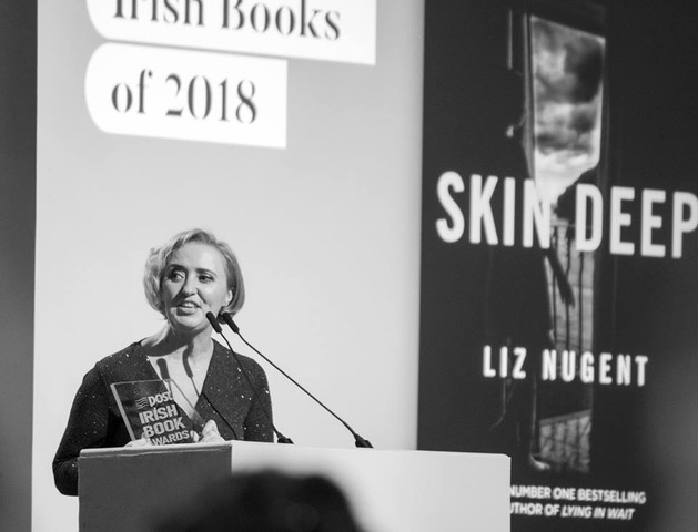 Liz scooped two trophies at the An Post Irish Book Awards on Tuesday 27th November 2018, winning Crime Novel of the Year and The RTE Radio Ryan Tubridy Listeners' Choice Award. Photos by Ger Holland.