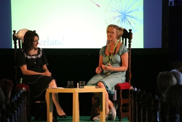 Liz in conversation with broadcaster, journalist and essayist Sinéad Gleeson at Hinterland Festival June 2018