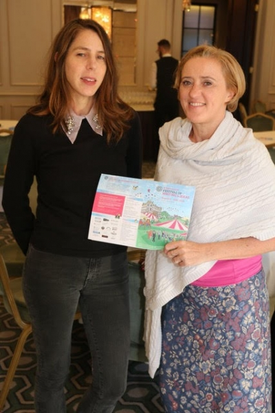 Liz with Rachel Kushner at the launch of Borris Festival of Writing and Ideas, Dublin, June 2018.