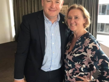 Liz met with Irish Ambassador to New Zealand, Peter Ryan