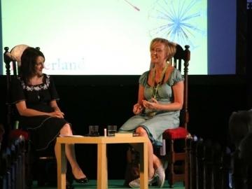 Liz in conversation with broadcaster, journalist and essayist Sinéad Gleeson at Hinterland Festival June 2018