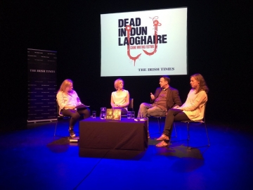 Interviewed by Bernice Harrison at the Dead in Dun Laoghaire Festival.