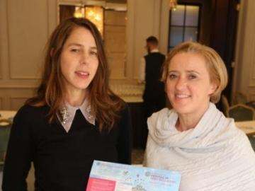 Liz with Rachel Kushner at the launch of Borris Festival of Writing and Ideas, Dublin, June 2018.