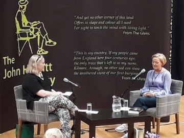 Liz was interviewed by Claire Allen, author of Her Name was Rose at the John Hewitt Summer School, Armagh. July 2018.