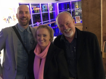 Liz meets Iain Reid and Michael Robotham at Vancouver Writer's Festival.