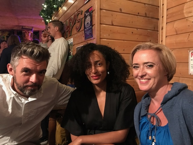 Liz with Nick Laird and Zadie Smith at West Cork Literary Festival, Bantry. July 2018.