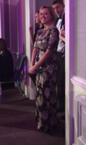 Liz just after receiving award