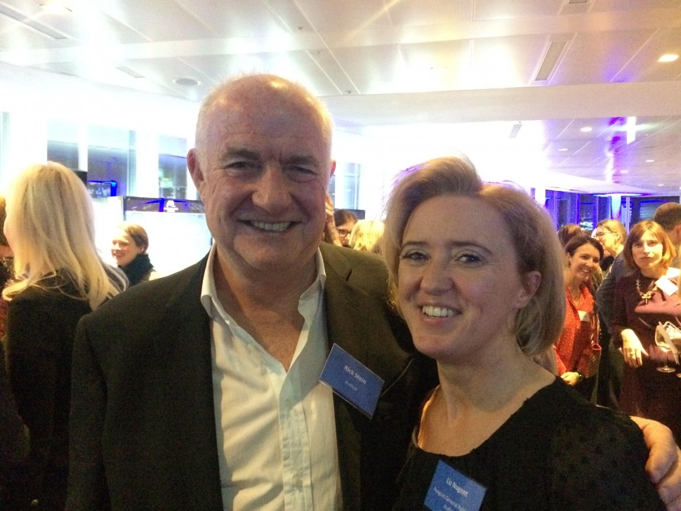 Liz with her favourite chef in the world, Rick Stein.