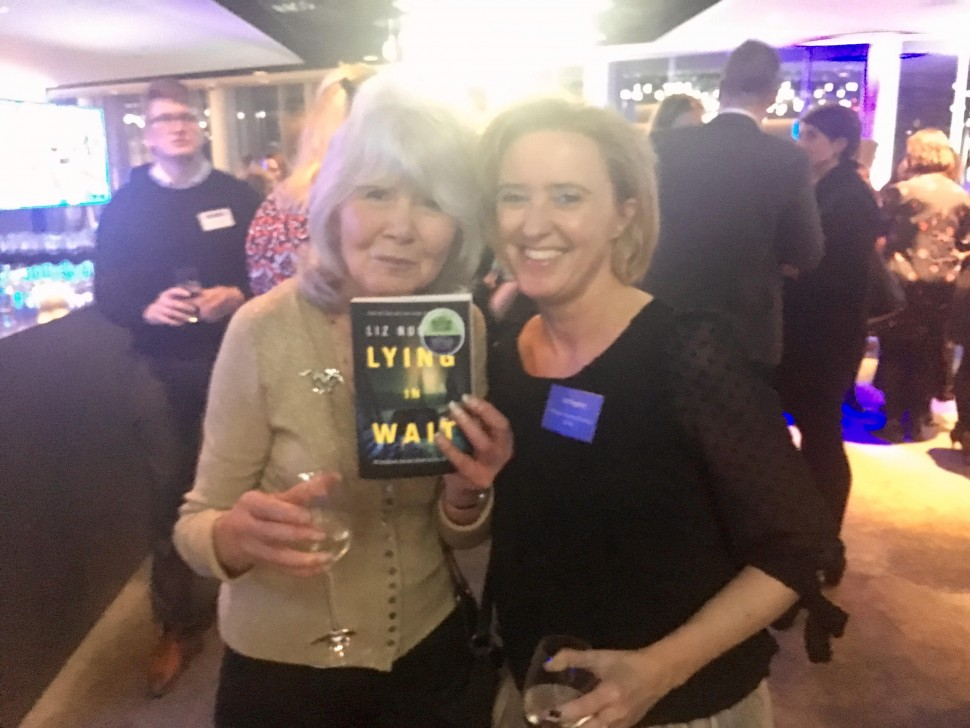 Liz with Jilly Cooper