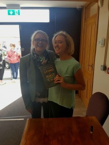 Signing books for reader Claire Bridle