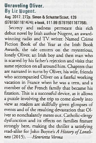 Unravelling Oliver - Booklist